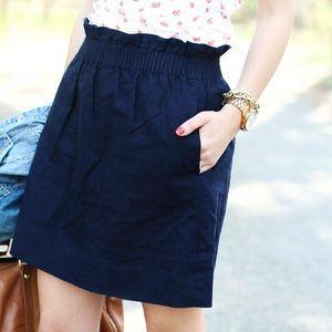 J. Crew | Linen City Mini Skirt